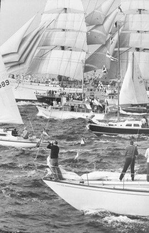 HENRI CARTIER BRESSON  Jeux Olympiques, Voile, Kiel  Vintage gelatine silver print