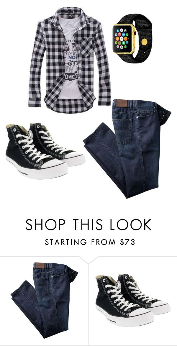 Teenage Boys outfit by mimi-minecrafter on Polyvore featuring Converse, mens fashion and menswear