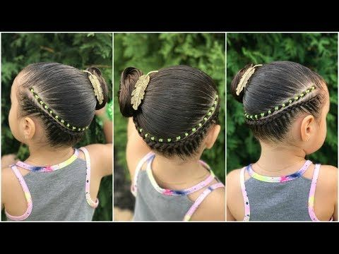 Peinado para niña con ligas y shakiras  Peinados faciles y rapidos para niña LPH - YouTube