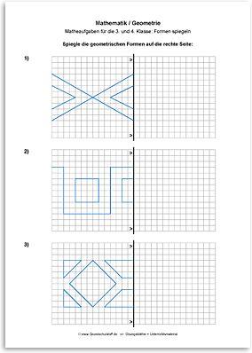 download geometrie linien und figuren spiegeln 1 matemaatika pinterest. Black Bedroom Furniture Sets. Home Design Ideas
