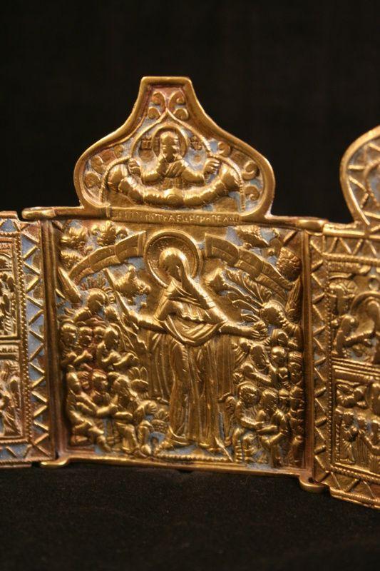russische bronzen 3-luik reisikoon