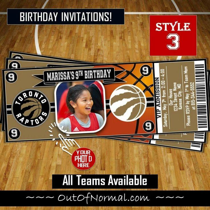 Toronto Raptors Photo NBA Basketball Ticket Horizontal