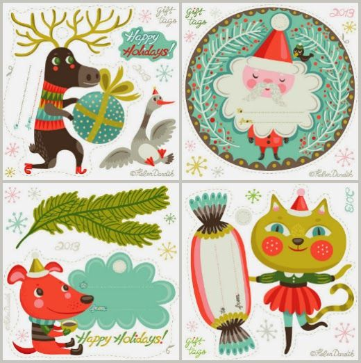 ReFab Diaries: Freebie: 2013 Printable gift tags