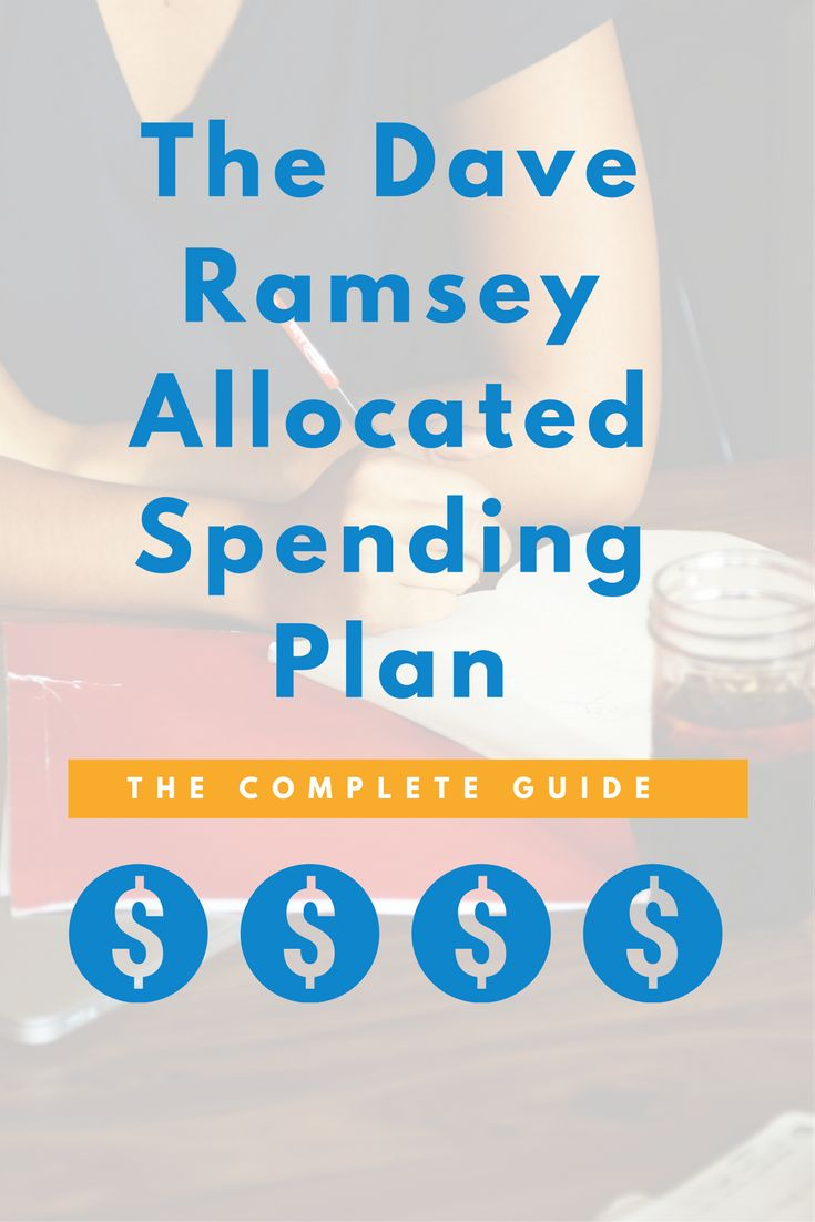 dave ramsey allocated spending plan banner