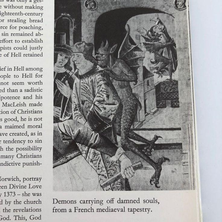 #hello en and #Hell in Western Art Graham 1968  DJ #book #art #demons #satan #religious #christian #halloween