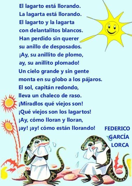 EL RINCÓN DE LA LECTURA: Poemas para niños