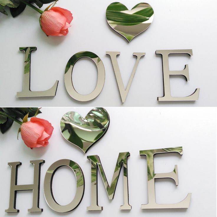 2016 Hot Acrylic Mirror 3D DIY wall sticker stickers English letters home decoration free shipping creative modern design *** Details can be found by clicking on the image.