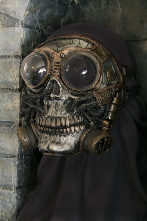 Steampunk+Froggle+Full+Face+Skull+Gas+mask+by+gryphonsegg+on+Etsy,+$50.00