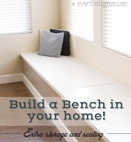 DIY Storage and Seating Bench! - Over the Big Moon
