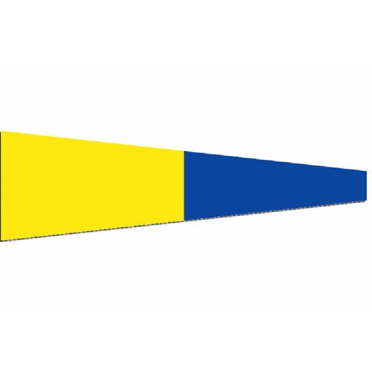 Seinwimpel 5 20x24cm (werkelijk formaat is 20x70cm) De Seinvlag vijf Materiaal Pavillon, rondom gezoomd met koord en lus, hoogste kwaliteit. Bestel al je seinwimpels en seinvlaggen en andere nautische vlaggen voordelig bij Vlaggenclub.