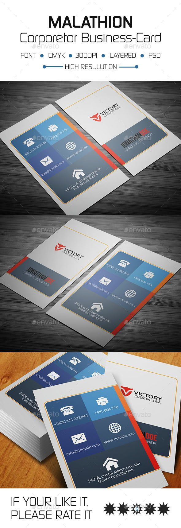 Malathion Corporate Business Card Template PSD. Download here: https://graphicriver.net/item/malathion-corporate-business-card/17460740?ref=ksioks