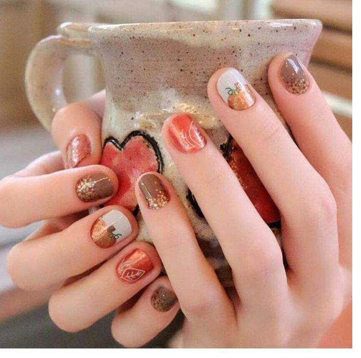 Jamberry #apple cider #maple sugar #fall fever / I lava you lacquer Fall Nail Art Perfection!