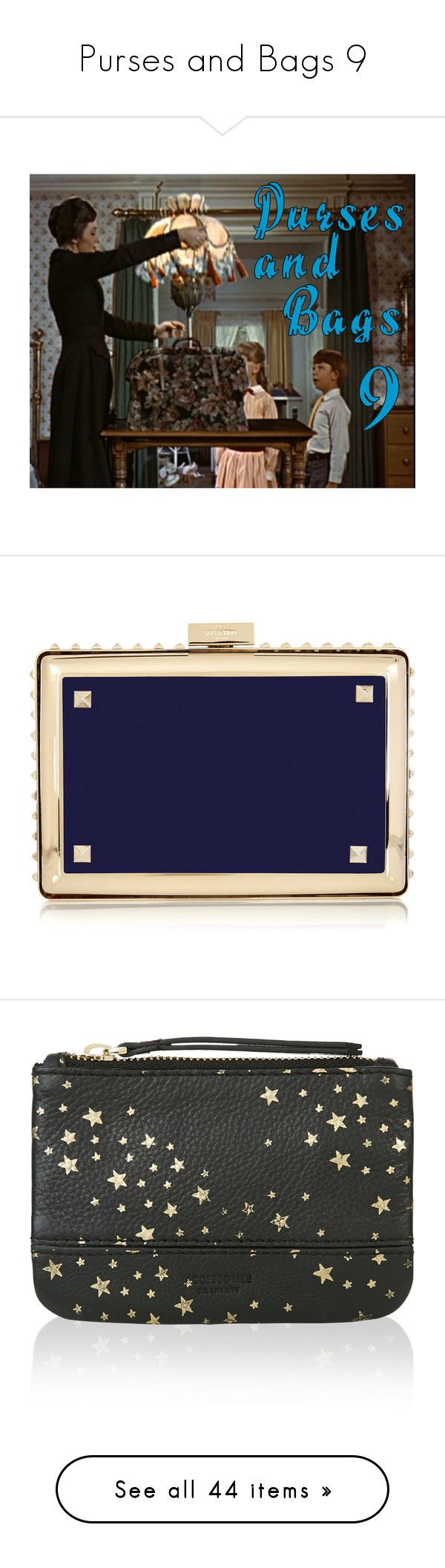 """""""Purses and Bags 9"""" by mouserz-wuz-here ❤ liked on Polyvore featuring bags, handbags, clutches, bolsas, purses, navy, navy blue purse, chain strap purse, man bag and valentino handbags"""