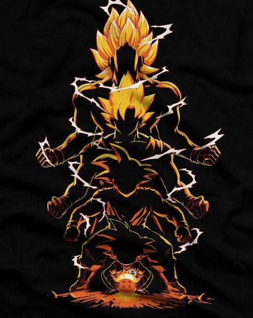Camiseta Sombras de um Saiyajin