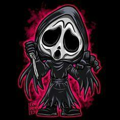 Ghost face Kawaii