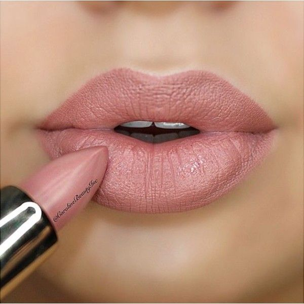 Nude Pink lipstick ❤ liked on Polyvore featuring beauty products, makeup, lip makeup, lipstick, lips and beauty