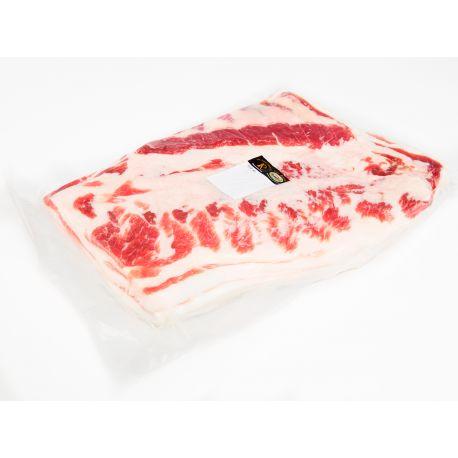 La #panceta salada (tocino crudo-curado) se obtiene a partir del tejido adiposo subcutáneo de las regiones torácica y abdominal, integrado por la piel o no, el tejido graso entreverado y el tejido muscular del cerdo #ChatoMurciano #Embutido