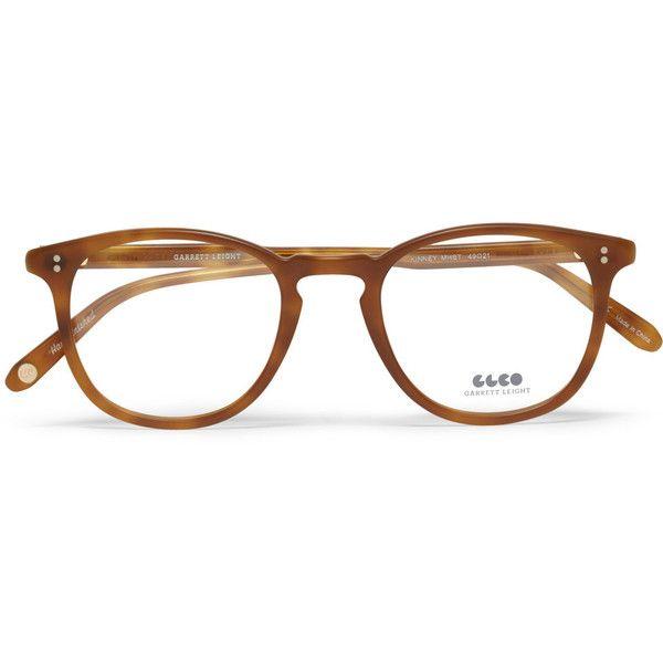 Garrett Leight California Optical Kinney D-Frame Acetate Optical Glasses ($310) found on Polyvore