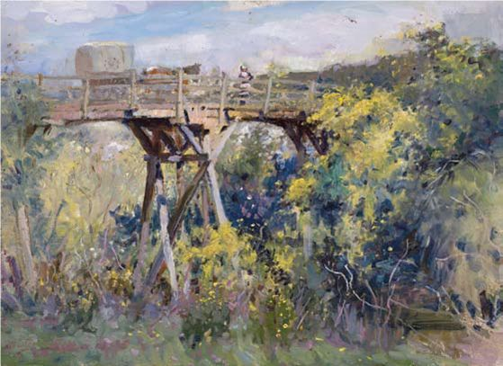 Old Bridge Warrandyte by Walter Withers 1910