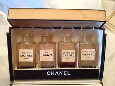 1930's Vintage Chanel Perfume Set Original Box Hard to Find