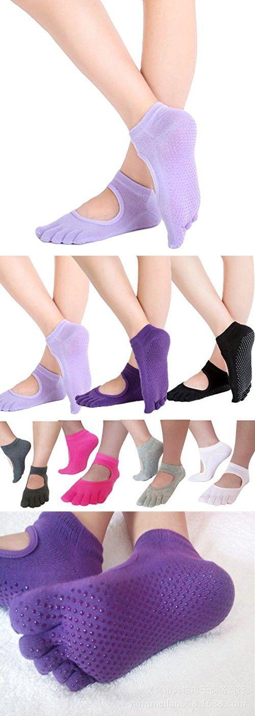 Toe Yoga Pilates Socks Non Slip Skid Barre Sock with Grips Non-Slip for Yoga Pilates Barre Ballet