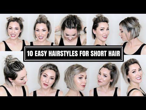 10 EASY HAIRSTYLES FOR SHORT HAIR | CHLOE BROWN – YouTube