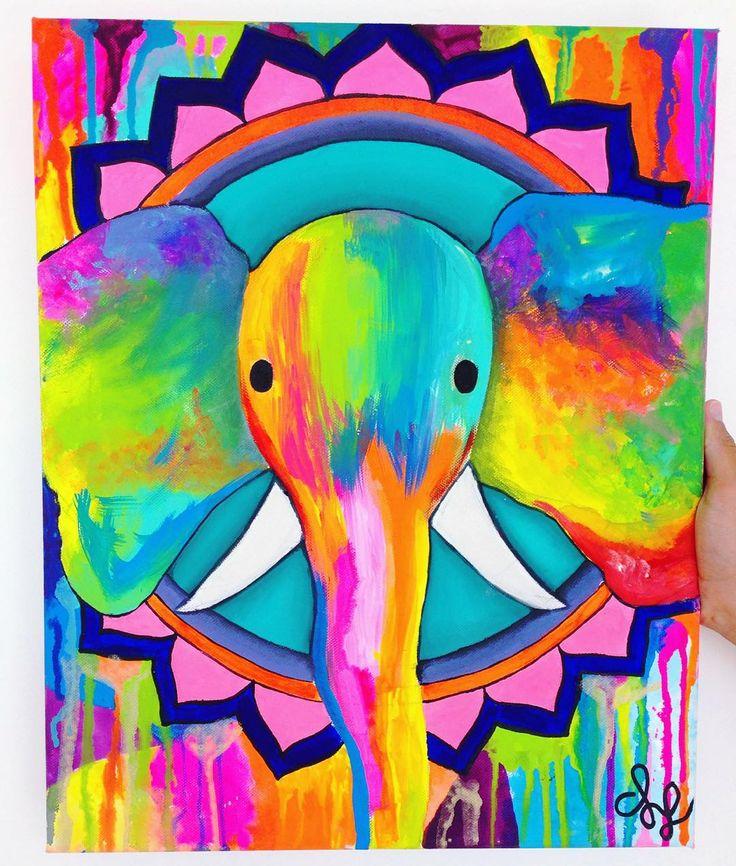 """""""Mi obsesión de siempre:   Clases felices de arte aprendiendo a pintar con acrílicos """""""