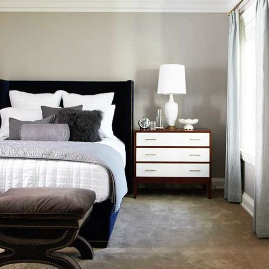 Tailored & Textured. Anything goes these days when it comes to layering linens in a bedroom. Combine velvet with linen, lambs wool with cotton, and quilted or matelassé with wool for tangible softness. Mix in contemporary patterns that belong to a complementary color palette for added visual interest.