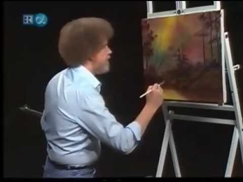 bob ross instructional video