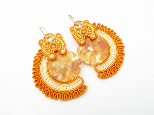 soutache earrings by Alina Tyro-Niezgoda tenderdecember.eu