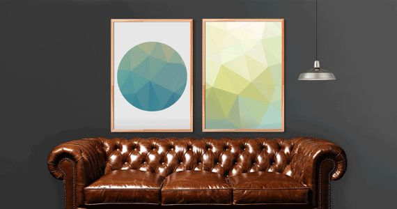 2 x Modern wall art, an easy way to freshen and change your living room