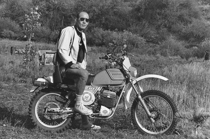 Hunter S. Thompson during his time covering the Hells Angels circa 1976