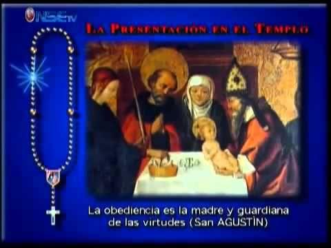 Recemos el Rosario Lunes y Sabado Misterios Gozosos  completo - YouTube