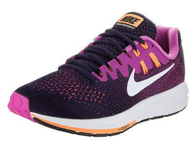 Nike Women's Air Zoom Structure 20 Purple Dynasty/White Fire Pink Running  Shoe