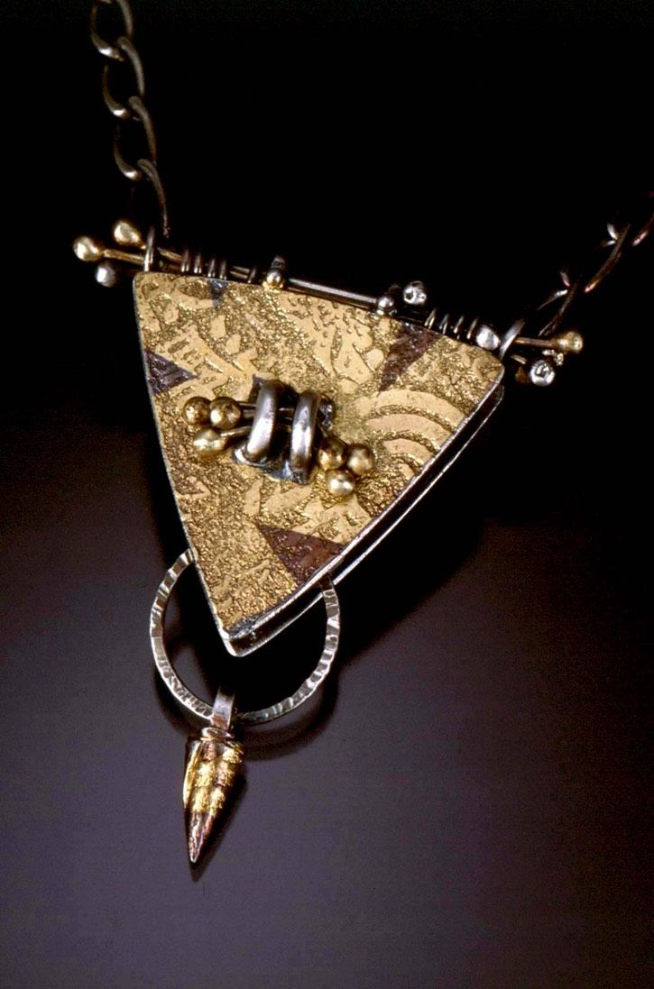 Triangle Pendant by Celie Fago Photo by Robert Diamante