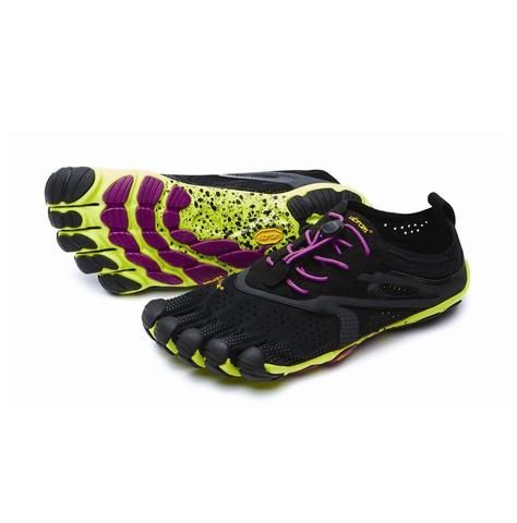 V-RUN Womens Black/Yellow/Magenta