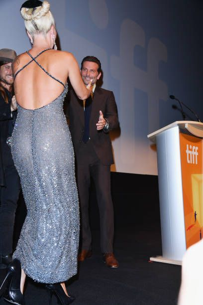 Lady Gaga and Bradley Cooper attend the 'A Star Is Born ...