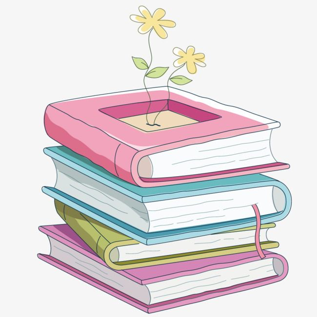 Flowers On The Books Flowers Book Books Png And Vector With