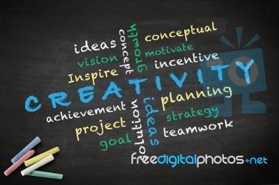 "Creativity Concept On A Blackboard ""Image courtesy of KROMKRATHOG / FreeDigitalPhotos.net"""