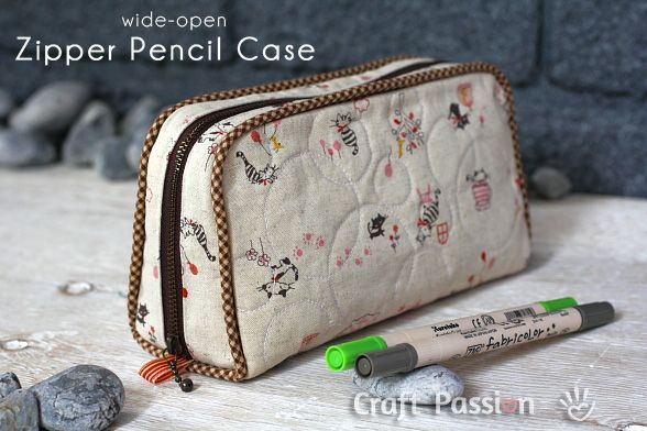 DIY: zipper pencil case