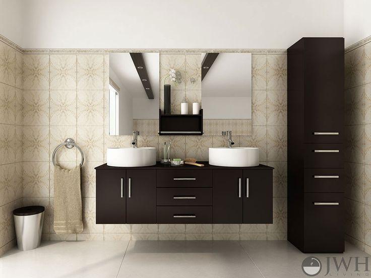 17 best images about floating bathroom vanities on pinterest floating wall vessel sink vanity. Black Bedroom Furniture Sets. Home Design Ideas