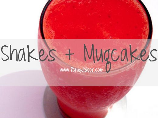 Fit Chick's Protein Shakes + Mugcakes Recipes. #recipes #protein #shakes #mugcakes #fit #fitness