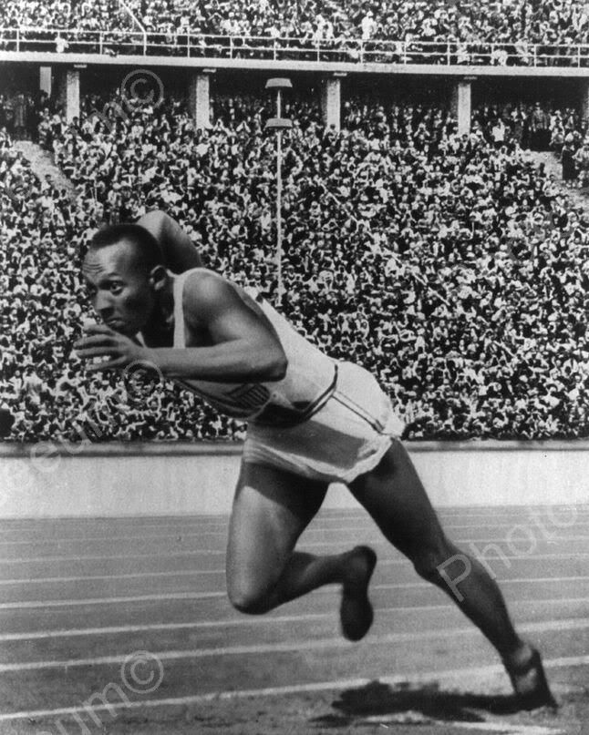 Jesse Owens 1936 Berlin Olympics Vintage 8x10 Reprint Of Old Photo