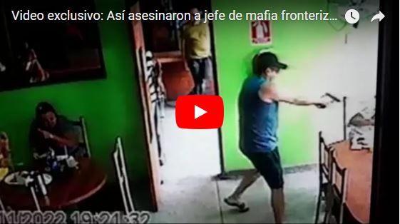 Momento en el que asesinaron a un mafioso en un restaurante de Maracaibo