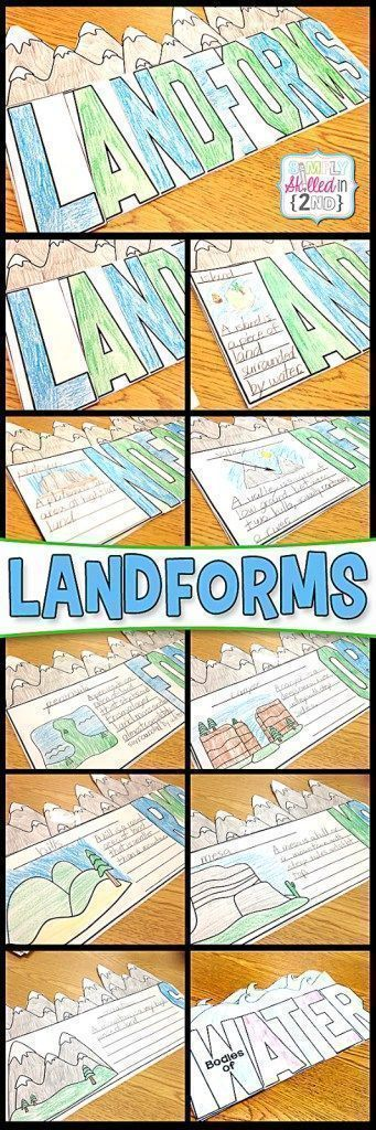 Learning about LANDFORMS - Simply Skilled in Second #science #learningbaoutlandforms #teachingresources #2ndgrade
