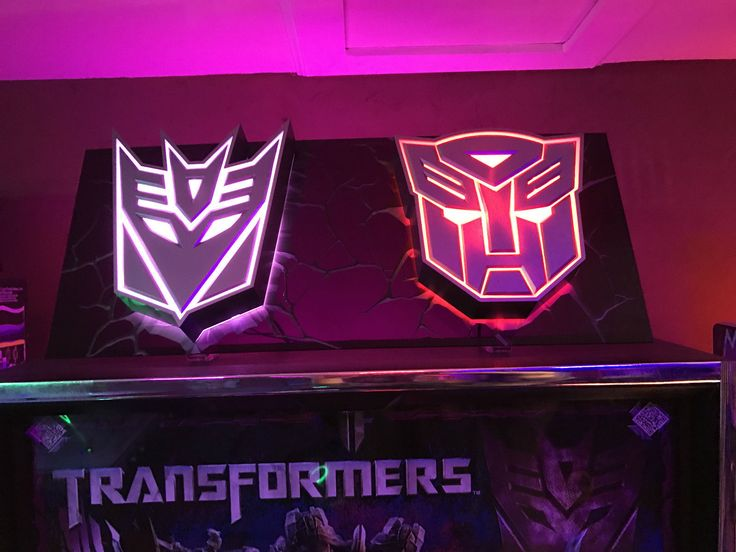 Transformers Pinball Topper Stern Hand Made Purple Acrylic With Led Logos