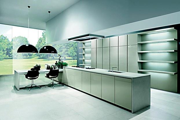 Come organizzare la cucina all'americana: protagonista l'isola. http://www.leonardo.tv/cucina/arredamento-cucina-all-americana