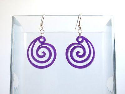 Korvakorut Spiral violetti, akryyliä