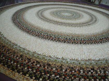 """Текстиль, ковры ручной работы. Ярмарка Мастеров - ручная работа. Купить Ковер текстильный """"Всё лучшее - детям!, или Темный, но светлый"""". Handmade."""