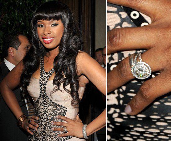 Pin for Later: Die schönsten Eheringe der Stars Jennifer Hudson David Otunga und Jennifer Hudson verlobten sich im September 2008.